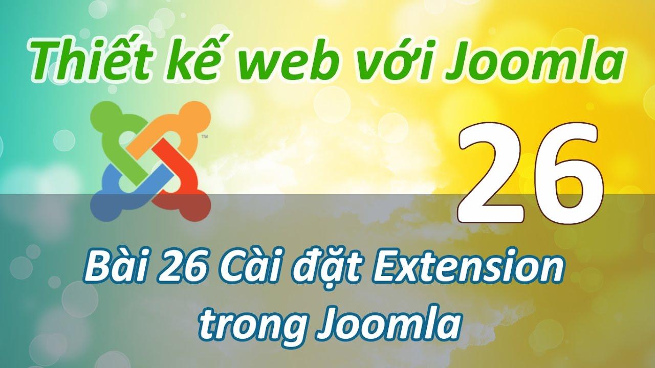 Thiết kế website bằng Joomla