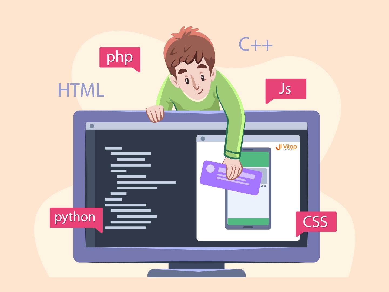 Top 3 ngôn ngữ lập trình phổ biến năm 2021   Vitop-Career