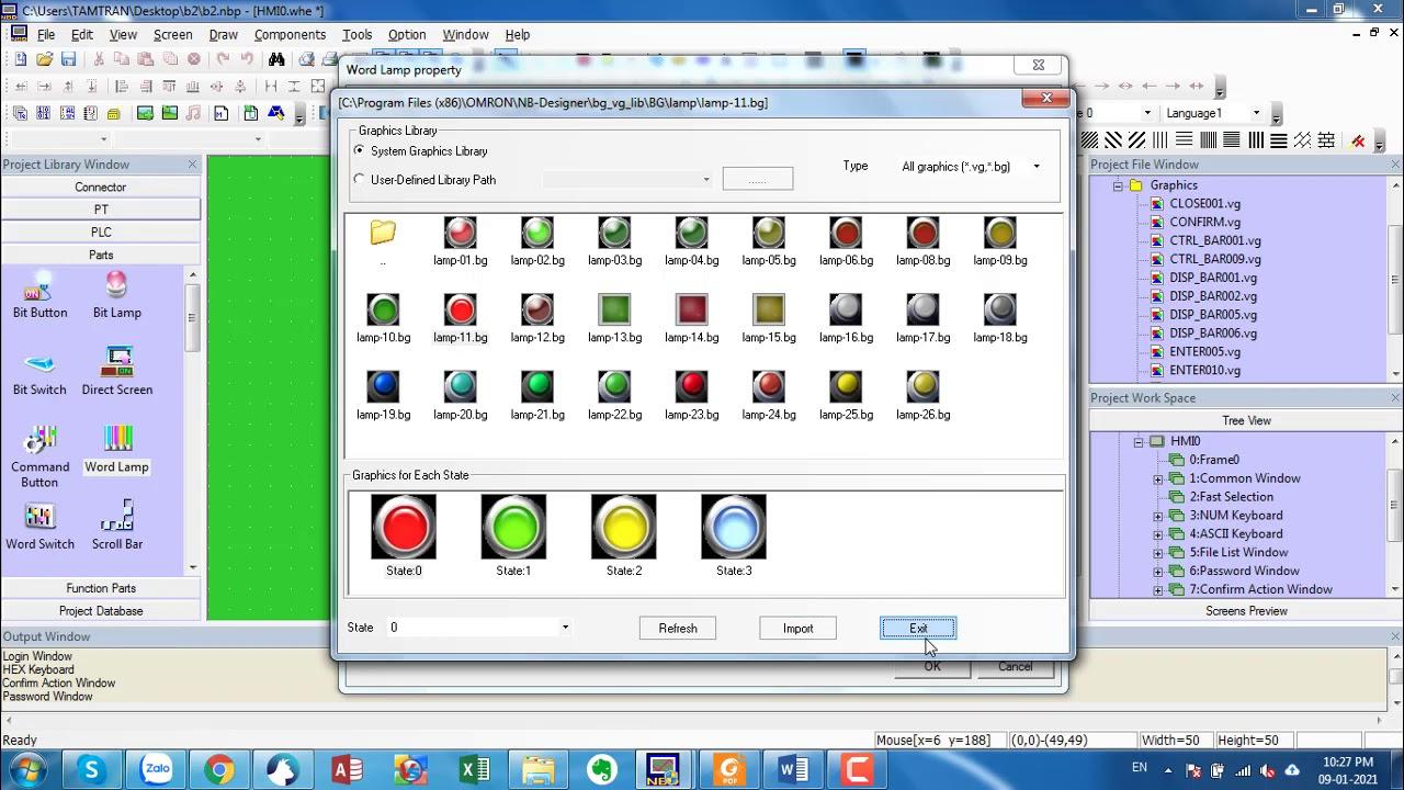 Cách dùng WORD LAMP trong NB DESIGNER OMRON _Lh mua hàng 0988792943 -  YouTube